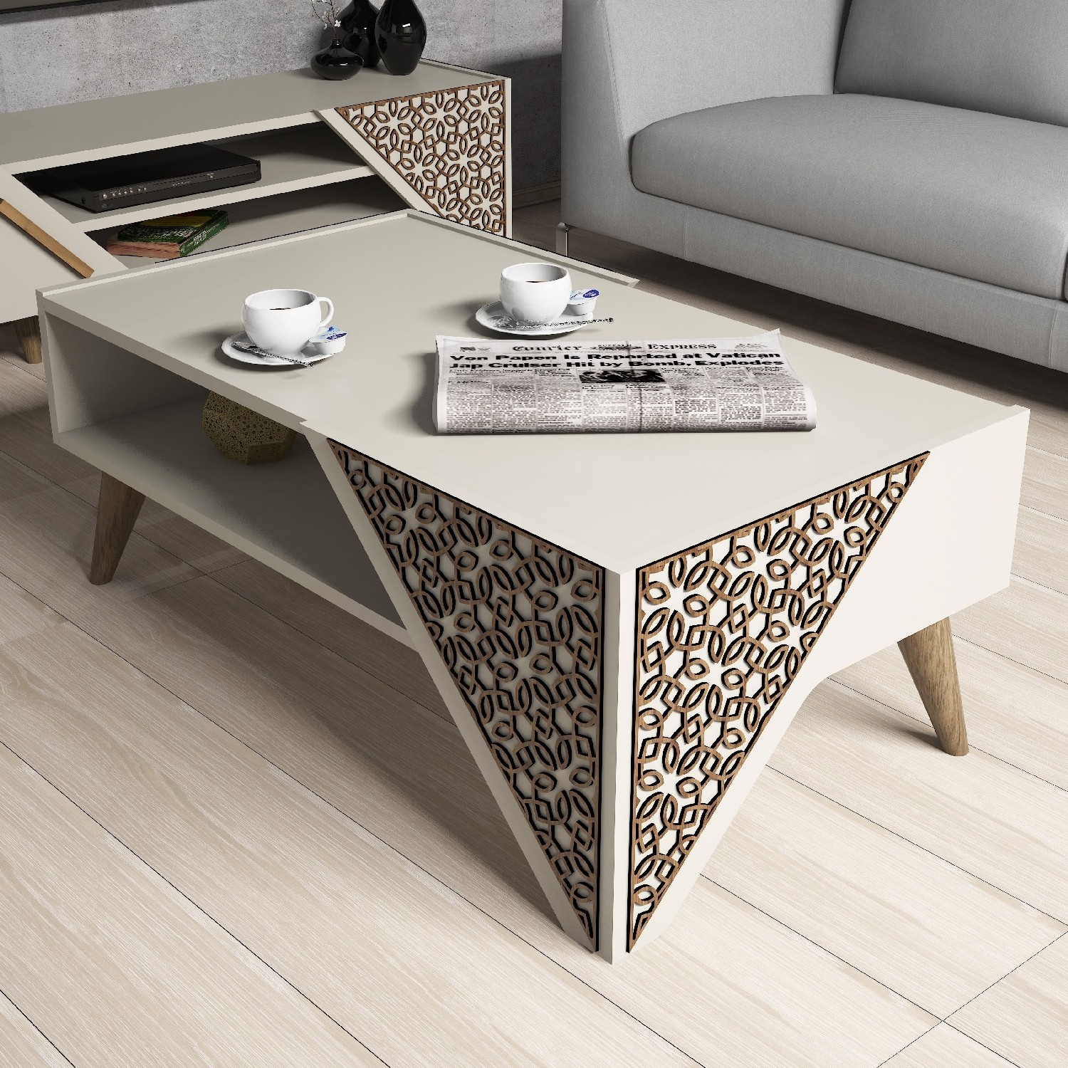 - Dose Of Modern Beril – Cream Coffee Table 845HCT2803 – Cream