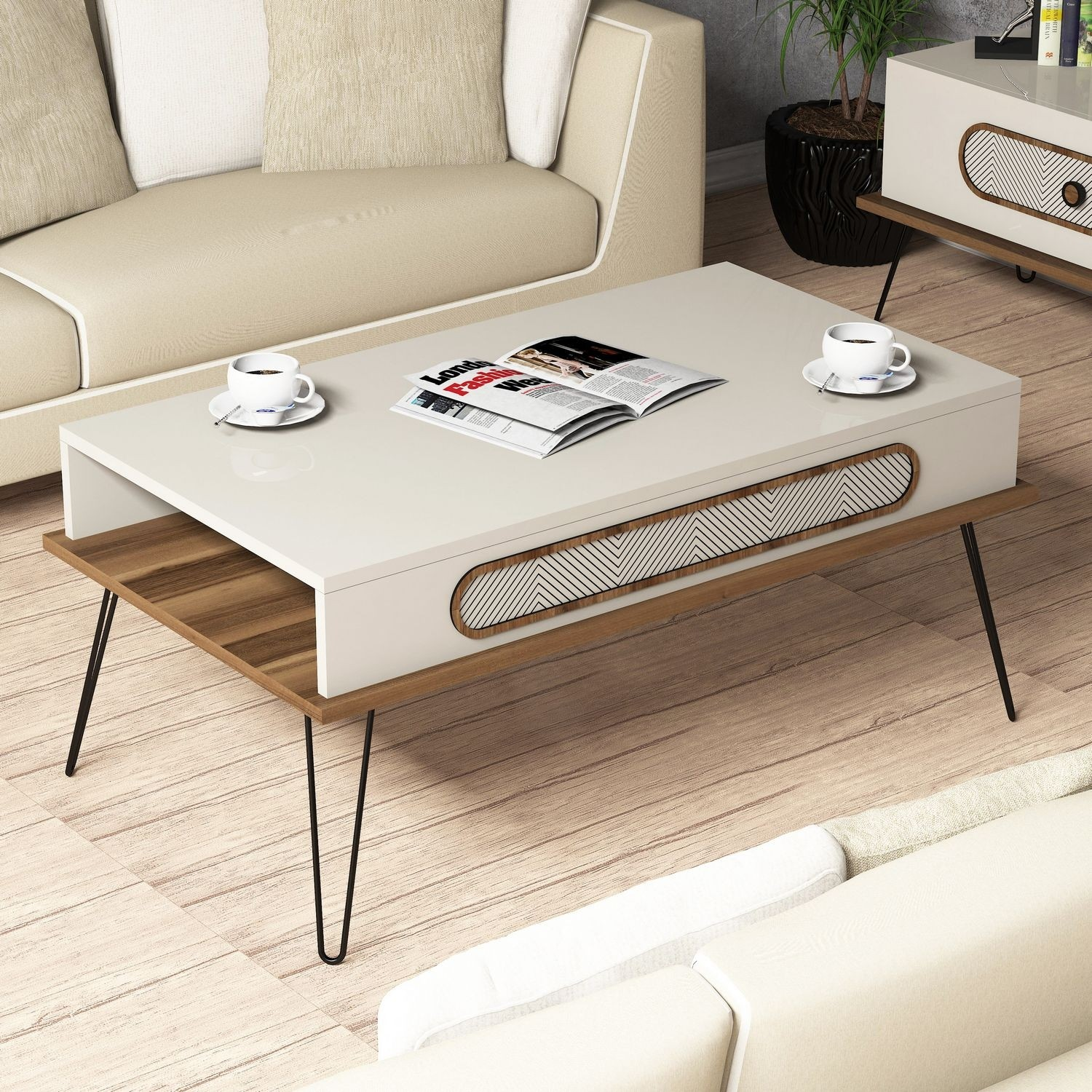 - Dose Of Modern Ekol – Cream Coffee Table 845HCT2816 – Cream